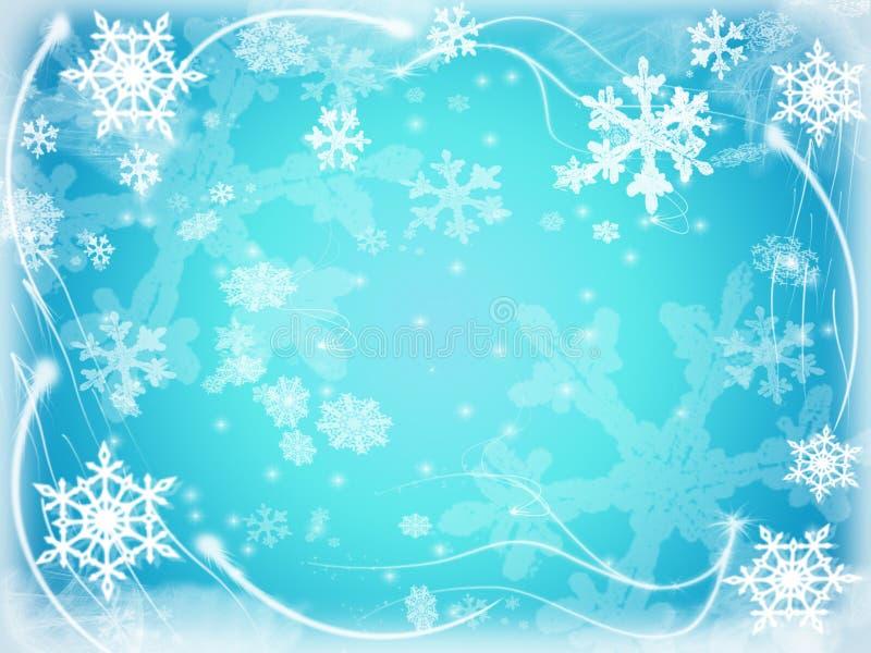 6 snowflakes ελεύθερη απεικόνιση δικαιώματος
