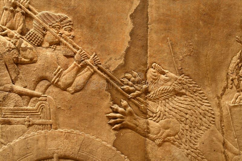 6 sztuki acient assyrian zdjęcia stock