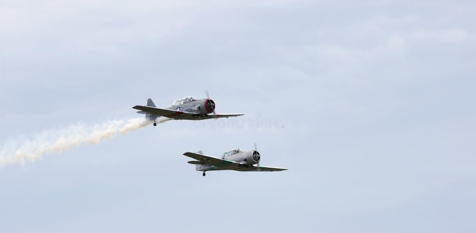 Download AT-6 Texans Fly By stock photo. Image of classic, demonstration - 848732