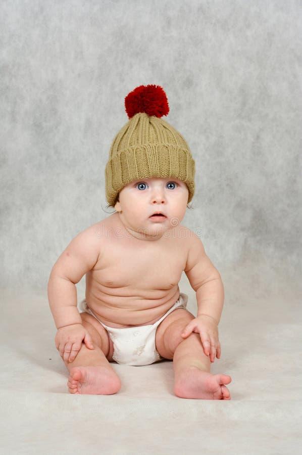 6 van de babymaanden oud jongen royalty-vrije stock fotografie