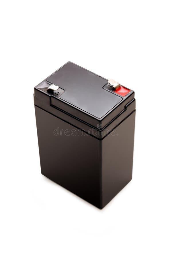6 voltios de batería aislada con el camino de recortes imagenes de archivo