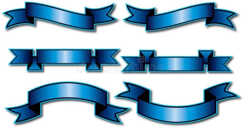 6 wektorowych sztandarów projektów ilustracja wektor