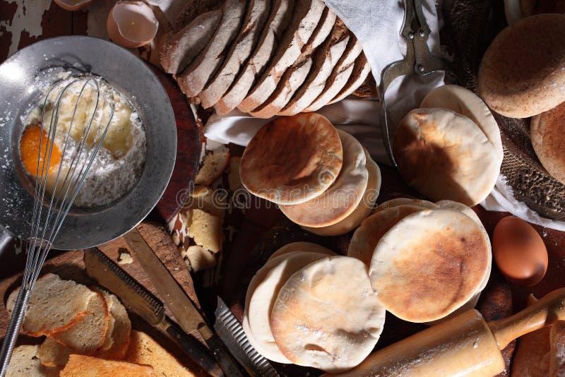 6 wypiekowy chleb fotografia stock