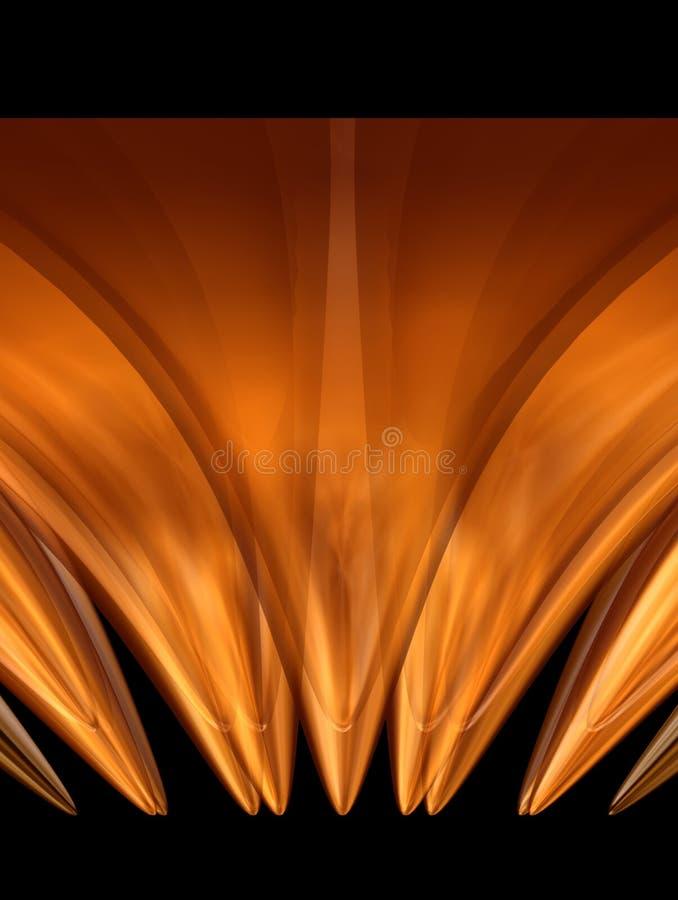 6 złoty kwiat ilustracji