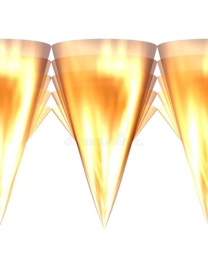 6 złotych zębów royalty ilustracja