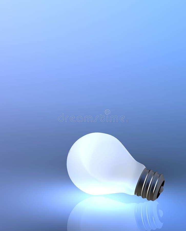60电灯泡光瓦特 库存例证