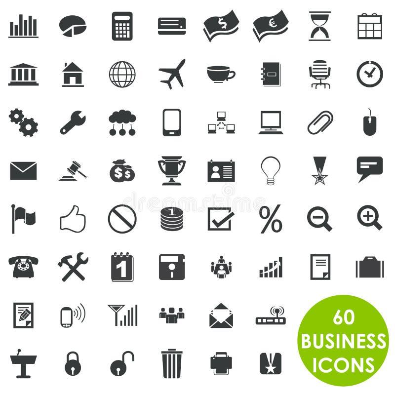 60 πολύτιμα δημιουργικά επιχειρησιακά εικονίδια ελεύθερη απεικόνιση δικαιώματος