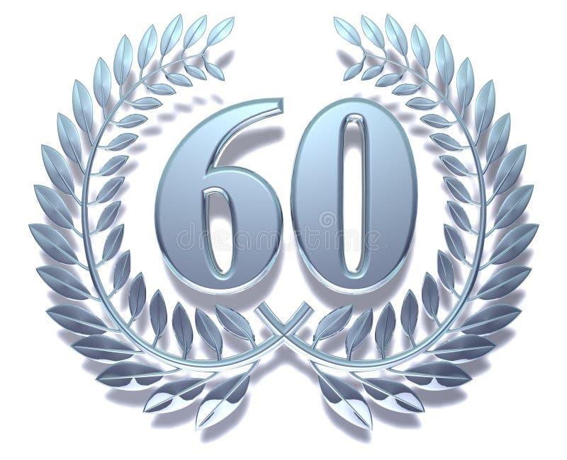 60 laurowy wianek ilustracja wektor