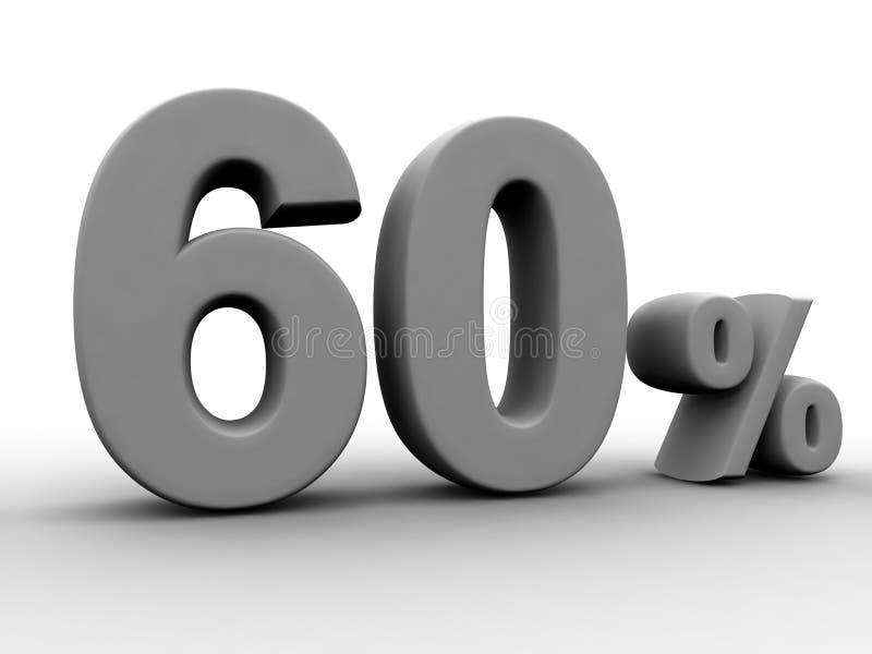 60 procent royaltyfri illustrationer