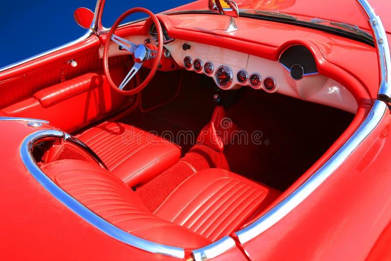 60 samochodów 70 czerwony jest wewnętrzna fotografia stock