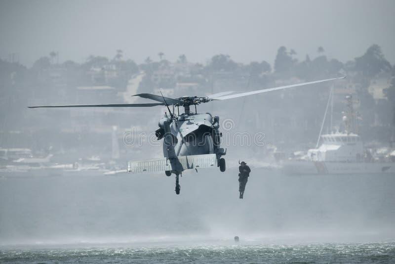 60s直升机knighthawk mh 免版税库存图片