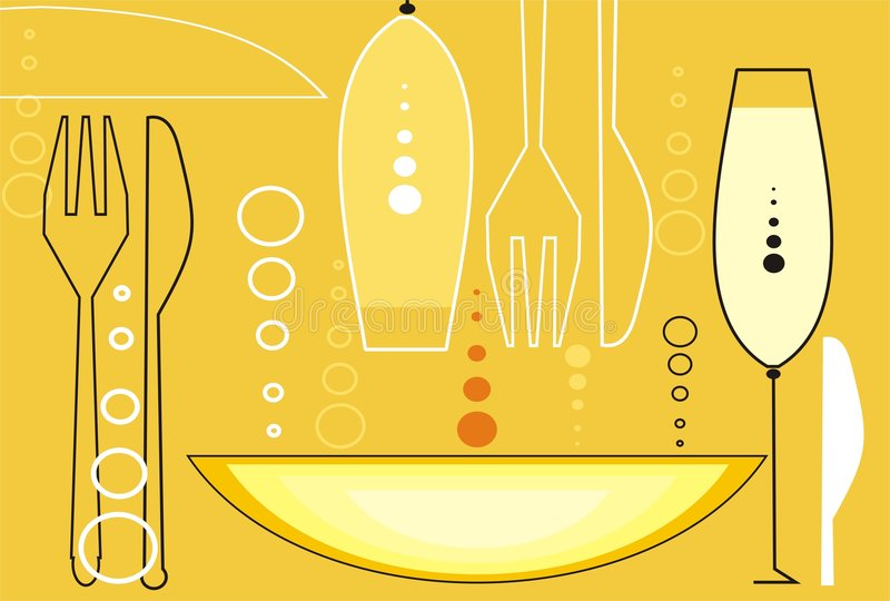 60s style background. Restaurant background in 60s styles royalty free illustration
