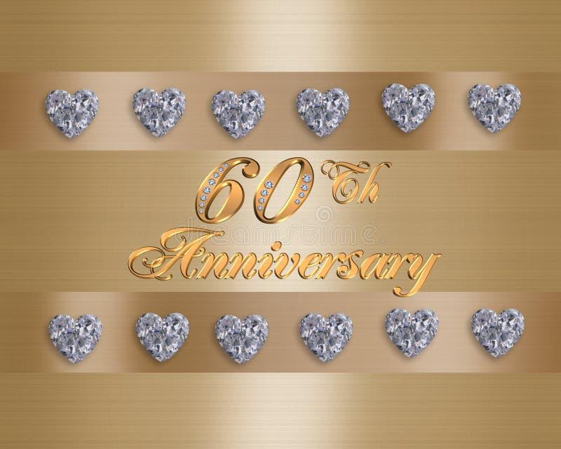 60th årsdag stock illustrationer