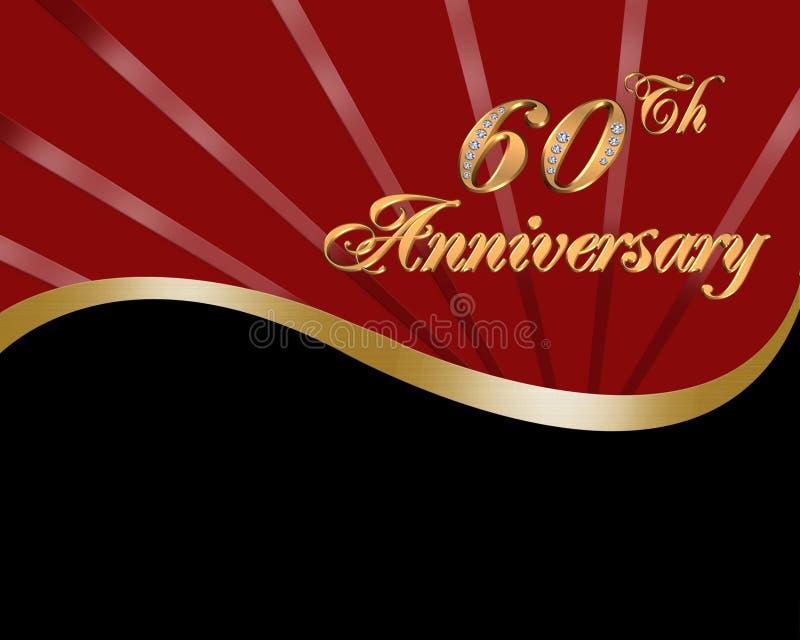 60th Aniversário de casamento ilustração do vetor