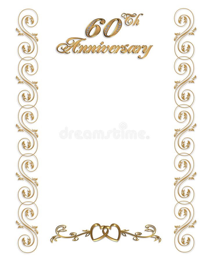 Download 60th Anniversary Invitation Border Stock Illustration    Illustration Of Diamond, Anniversary: 15686186