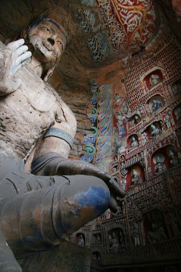61个雕刻的洞穴石yungang 免版税图库摄影