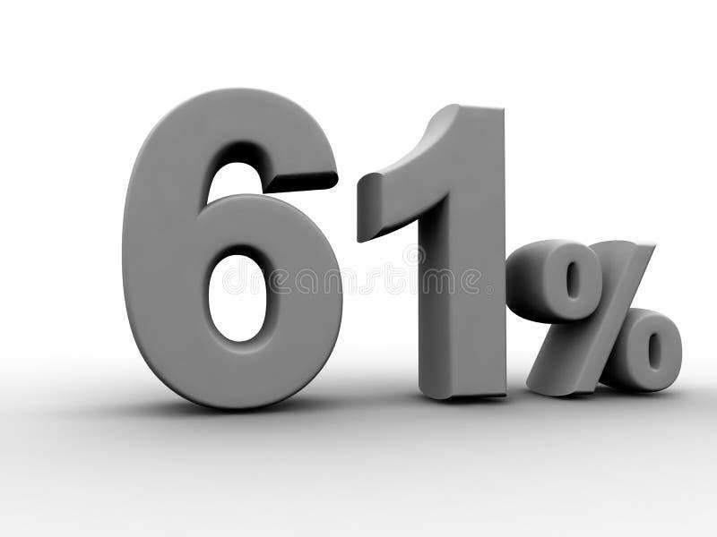 61% 向量例证