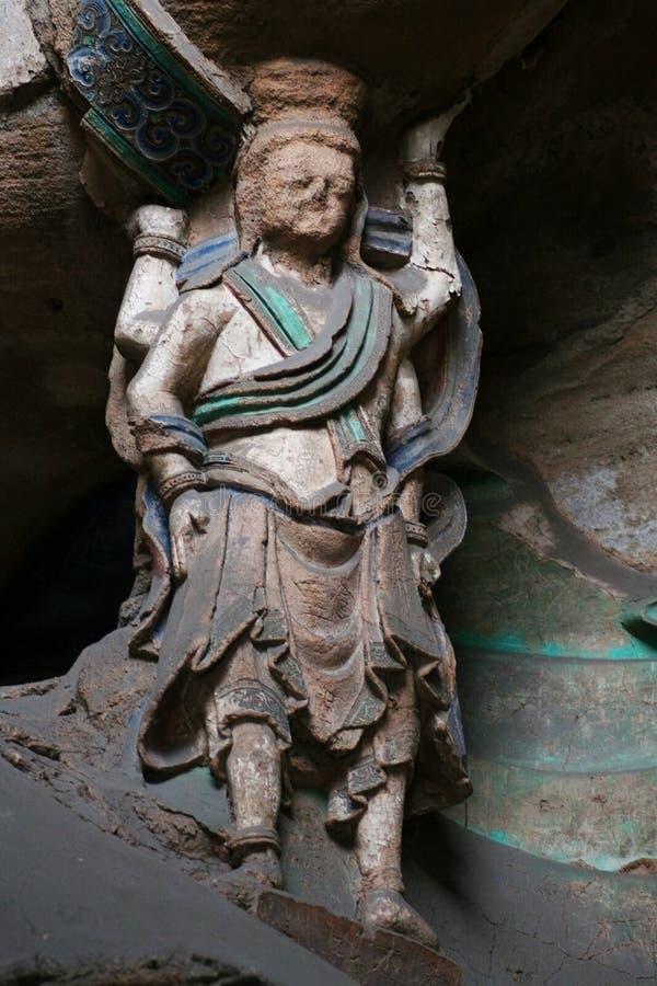62个雕刻的洞穴石yungang 免版税库存照片
