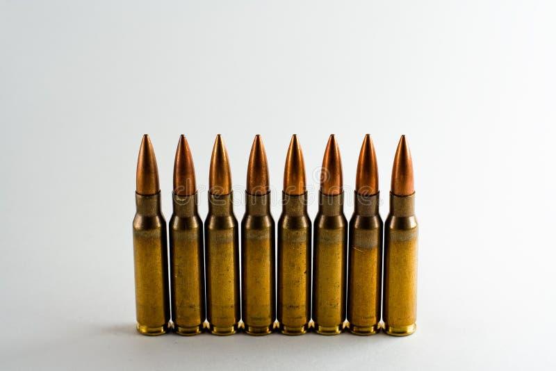 62mm 7 ammunitionar fotografering för bildbyråer