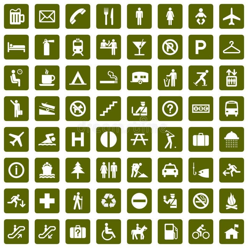 64 διαφορετικά πράσινα εικ&o ελεύθερη απεικόνιση δικαιώματος