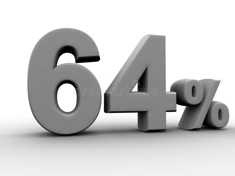64 percenten royalty-vrije illustratie