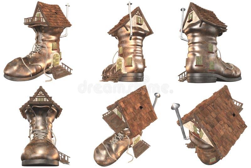 641 Huis van de Schoen van het sprookje het Oude stock illustratie
