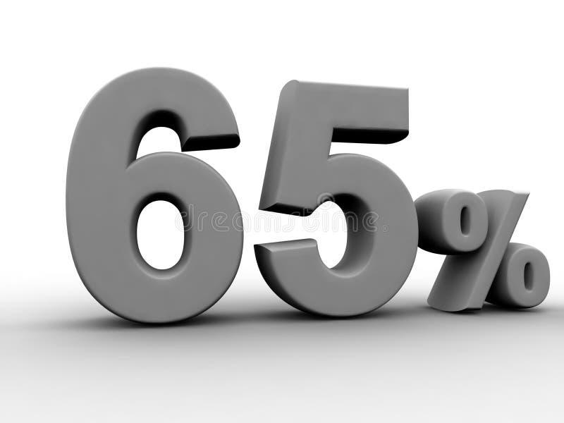 65 процентов иллюстрация вектора