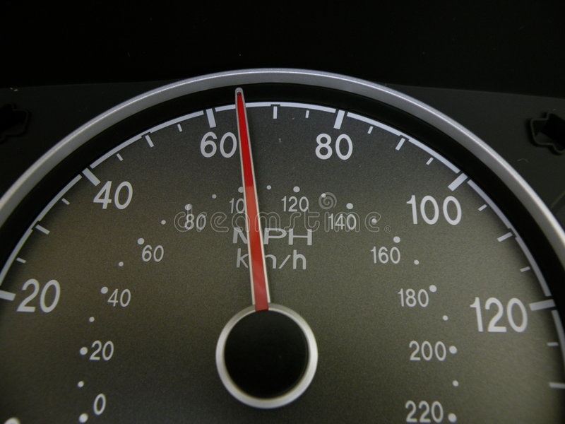 65 miles per hour stock image. Image of hour, gauge, speed - 7772157