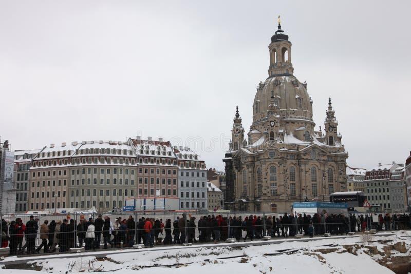 65ste herdenking van het bombarderen van Dresden royalty-vrije stock foto