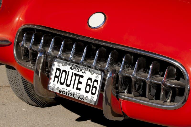 66辆汽车途径 免版税图库摄影