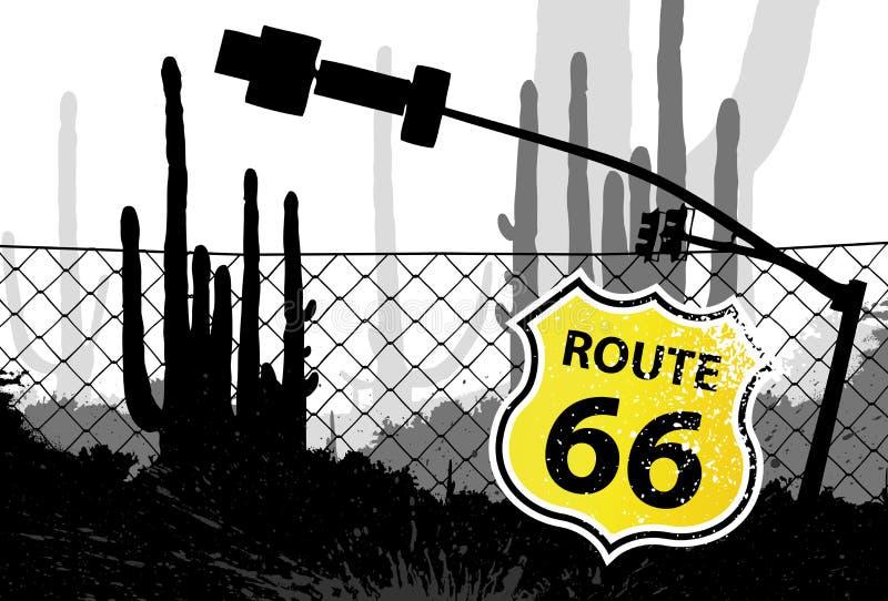 66 διαμορφωμένο διαδρομή σ&eta διανυσματική απεικόνιση