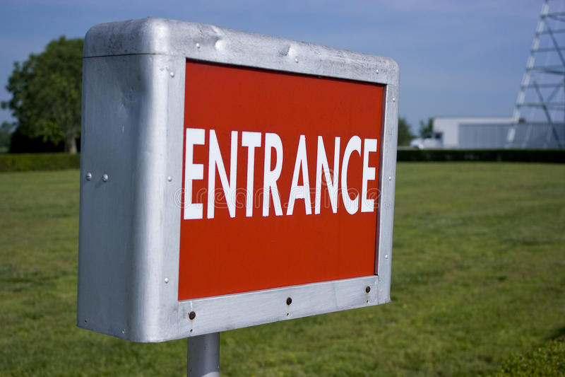66 drive entrance route sign στοκ εικόνα με δικαίωμα ελεύθερης χρήσης