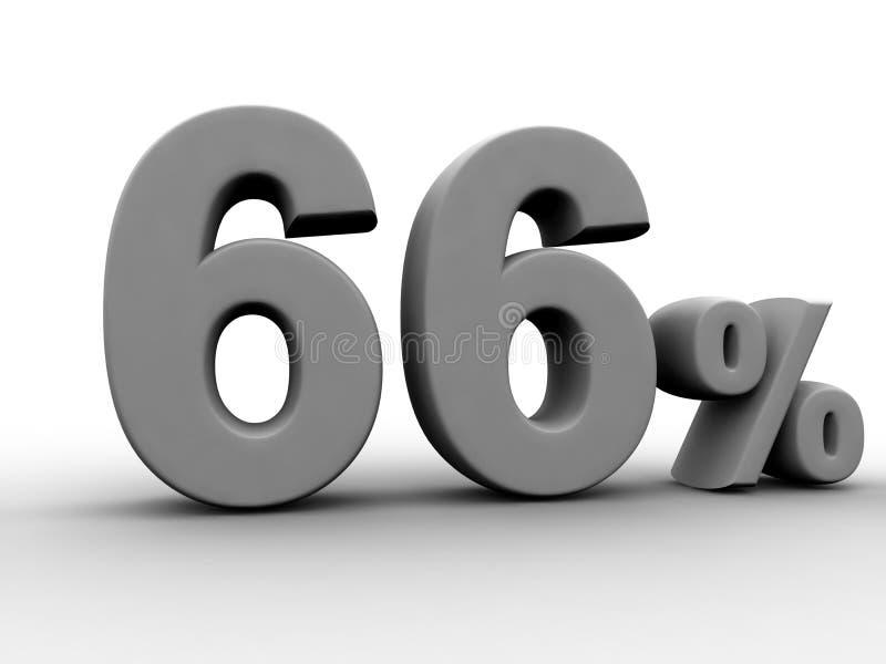 66 per cento illustrazione vettoriale