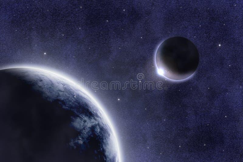 Download 667 M spacescape stock illustrationer. Bild av solnedgång - 27824