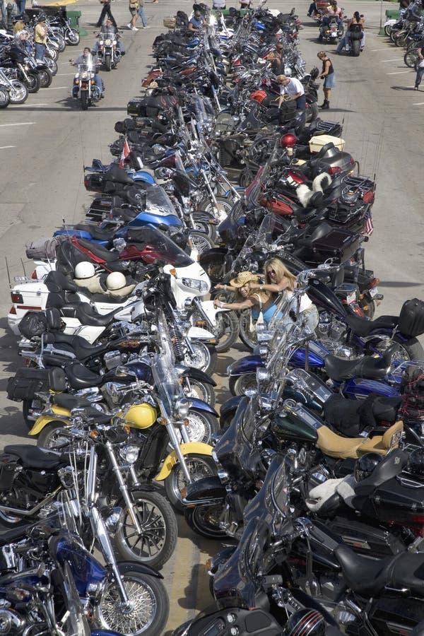 67th однолетний мотоцикл Rall Sturgis стоковое изображение