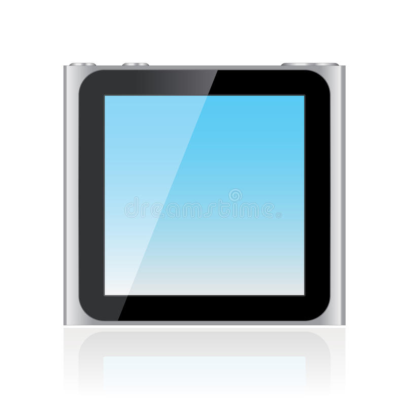 6th utveckling iPod Nano stock illustrationer
