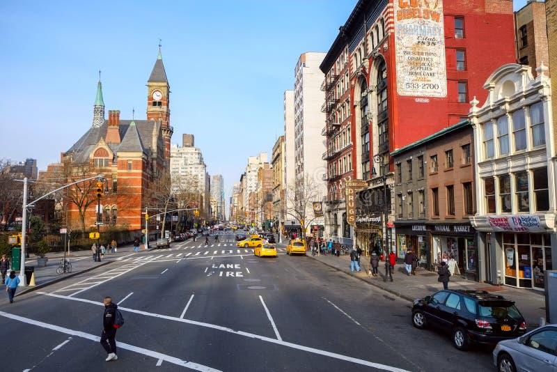6to Avenida en el Greenwich Village en NYC fotografía de archivo libre de regalías