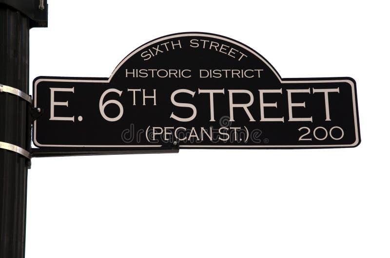 6to Calle en Austin Tejas imagenes de archivo