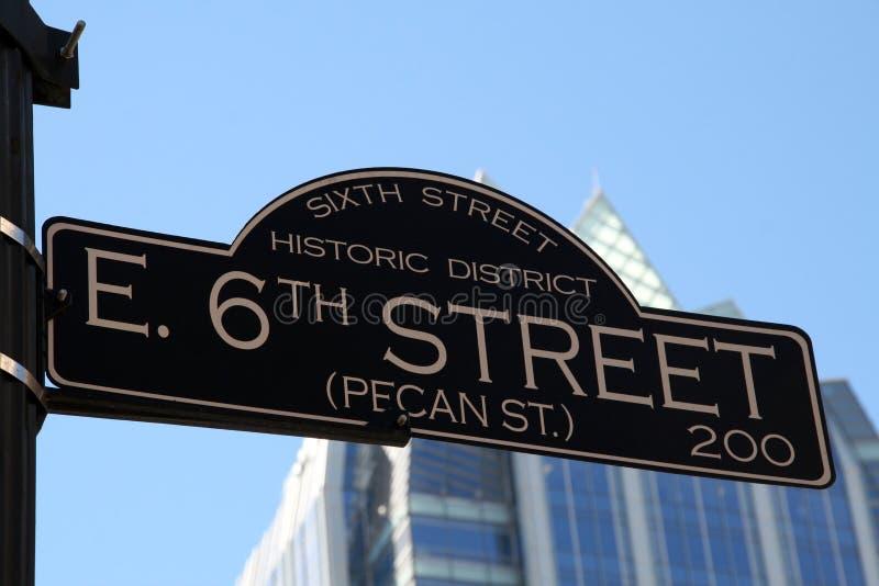 6to Calle en Austin Tejas foto de archivo libre de regalías