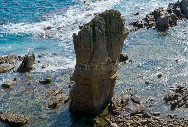 7个岩石海运 免版税库存照片
