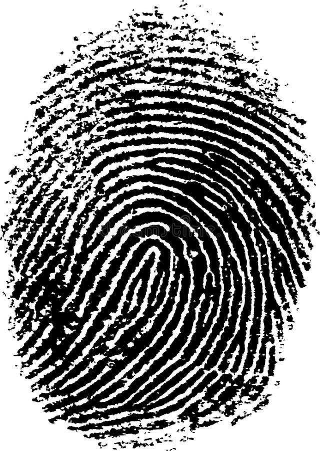 7指纹 库存例证