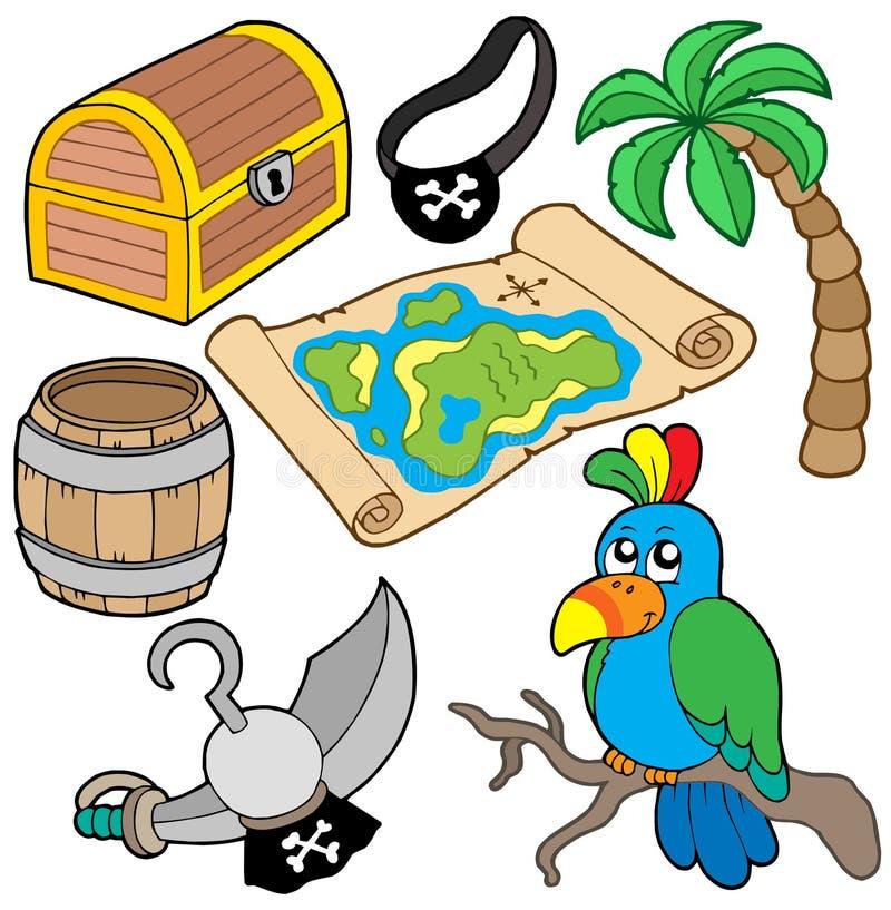 7收集海盗 向量例证