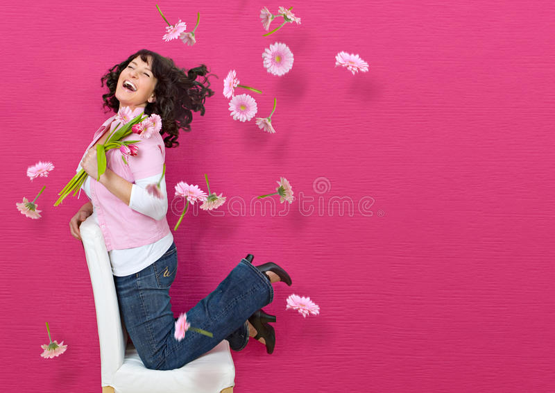 7朵花 免版税库存照片