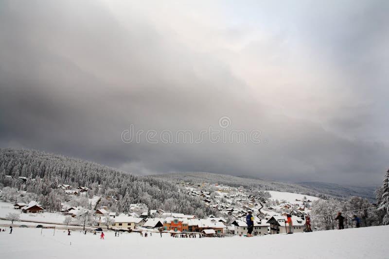 7横向雪 库存照片