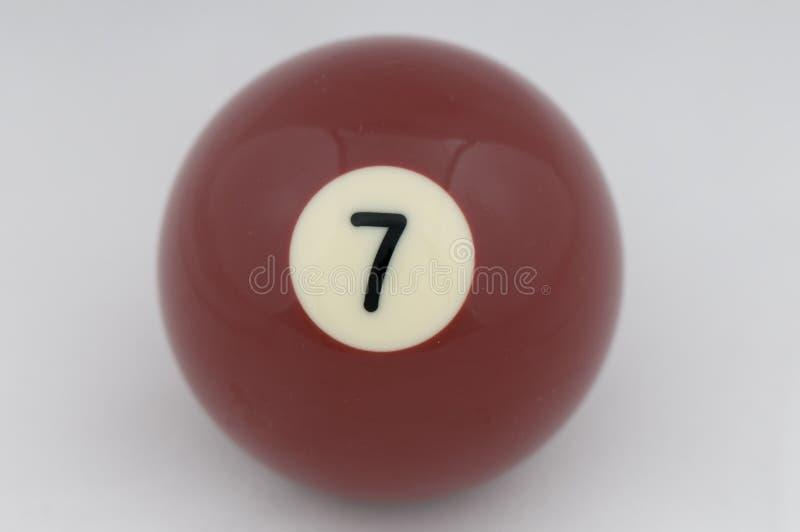 7球没有池 免版税图库摄影