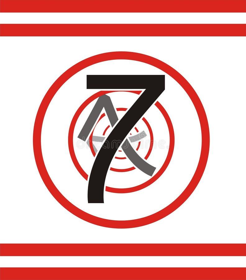 7编号 库存例证