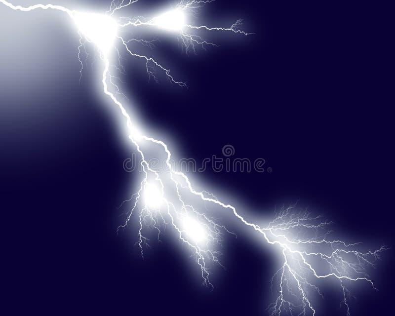7闪电 向量例证