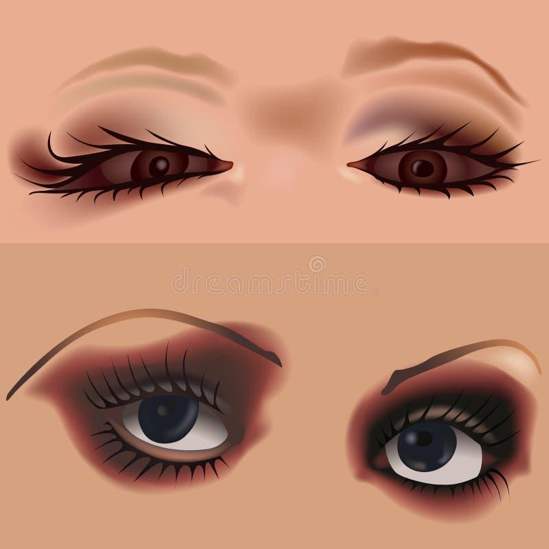 7 ögon vol stock illustrationer