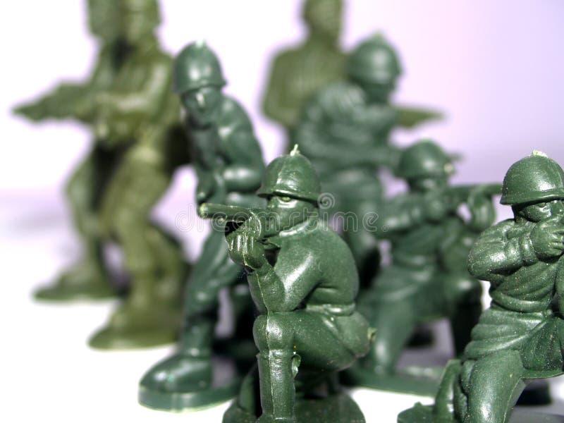 7 żołnierzy zabawka zdjęcie stock