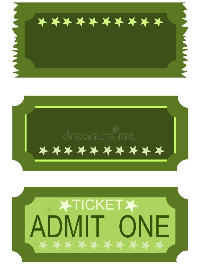 7 αναγνωρίζουν ένα εισιτήριο ελεύθερη απεικόνιση δικαιώματος